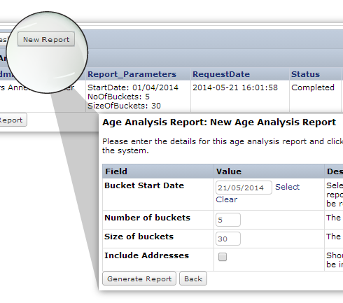 Debt Collections - performance monitoring and reporting