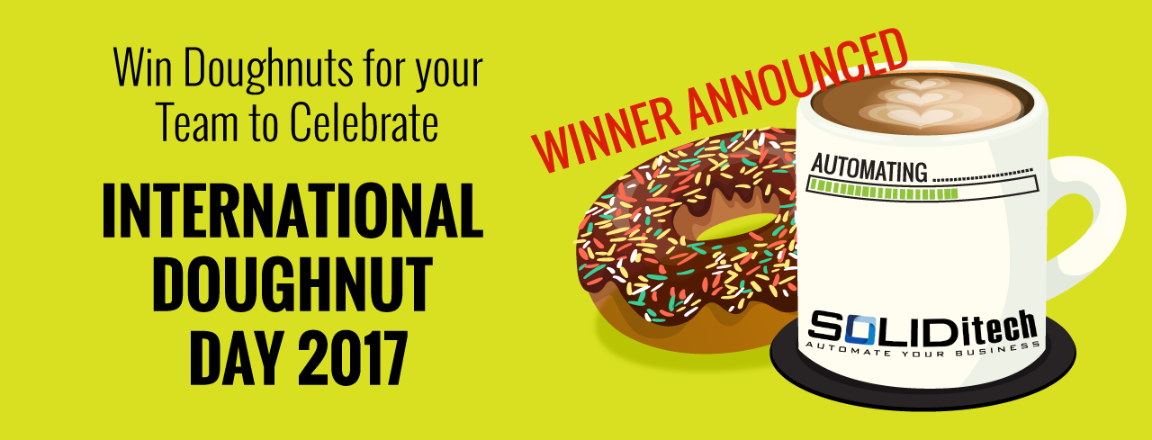 SOLIDitech Invites Their Customers to Win Doughnuts for their Teams in Celebration of International Doughnut Day 2017