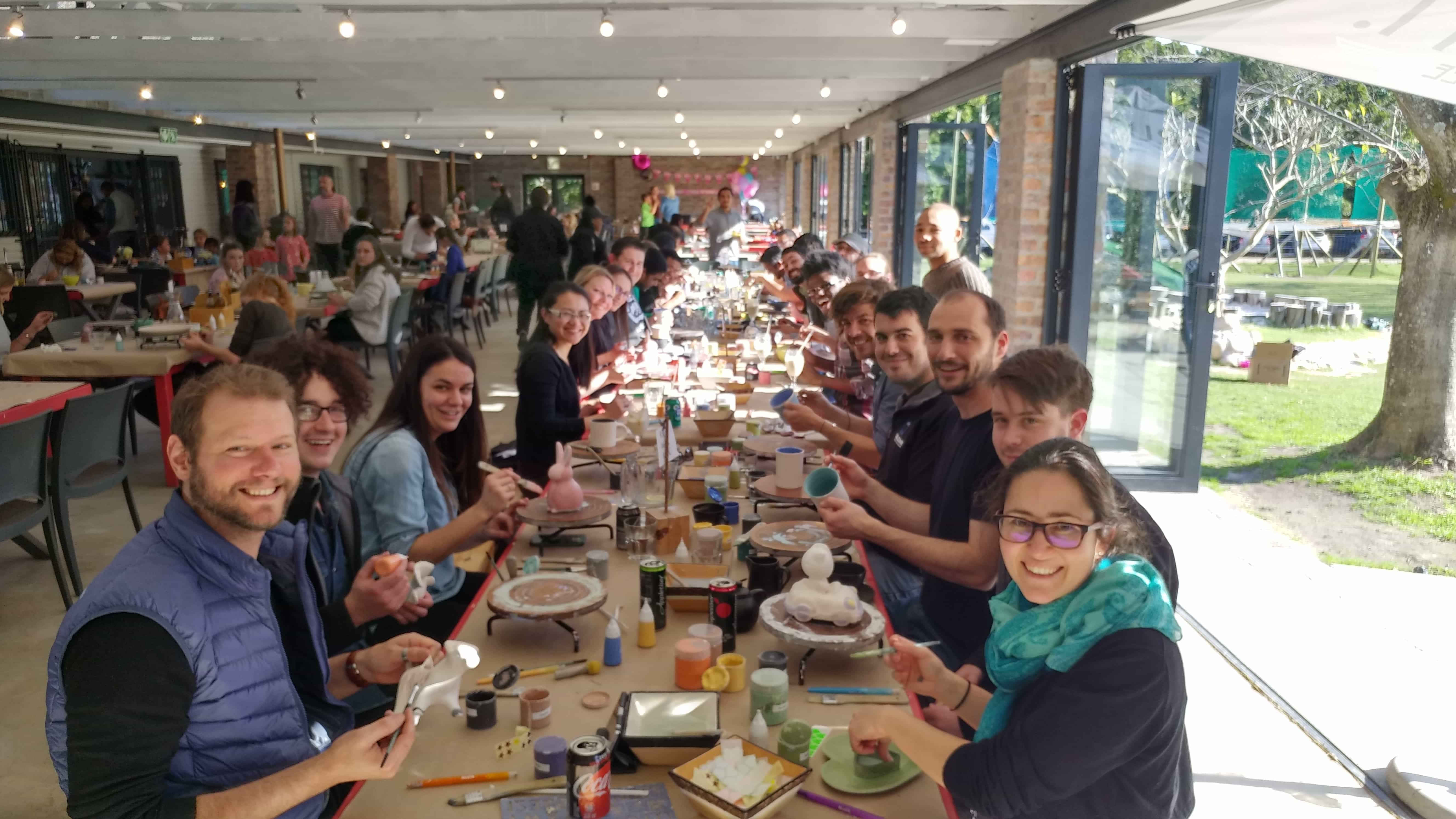 SOLID's Cape Town office having their teambuilding event at Clay Cafe