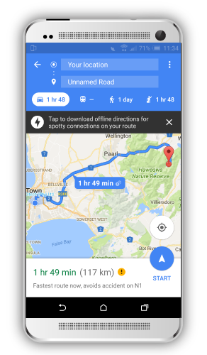 GPS location on mobile app
