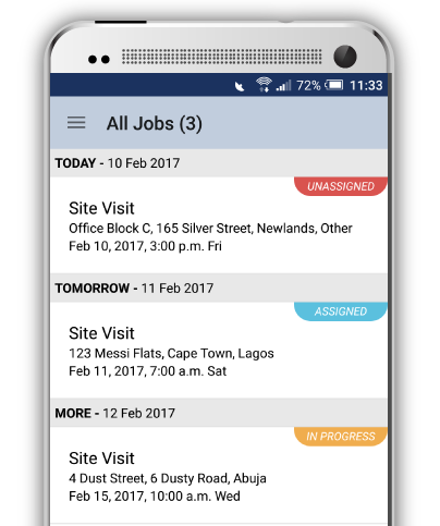 Screenshot of the SOLID Mobile App