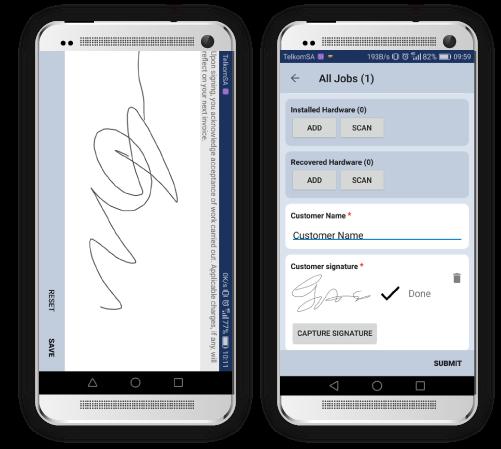 Digital capture of signature