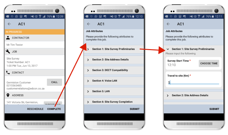 SOLID Mobile App Site Survey Workflow Example